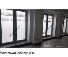 Oklejanie szyb -Folie dekoracyjne Warszawa