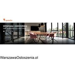 Wynajem sal szkoleniowych i konferencyjnych w Warszawie - rezerwacja online Spotello