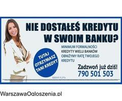 Nie dostałeś kredytu w swoim Banku?Zapraszamy