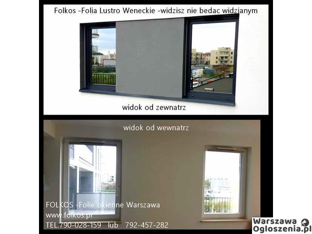 Lustro weneckie folia na okna- szyba wenecka, folia wenecka Warszawa -oklejanie szyb, sprzedaż folii - 1