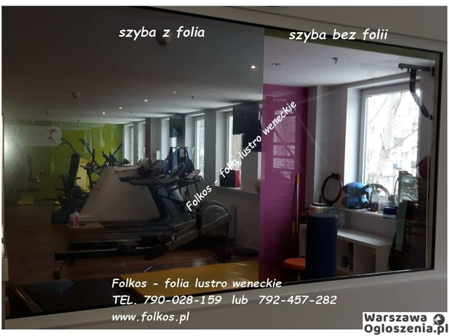 Lustro weneckie folia na okna- szyba wenecka, folia wenecka Warszawa -oklejanie szyb, sprzedaż folii - 2