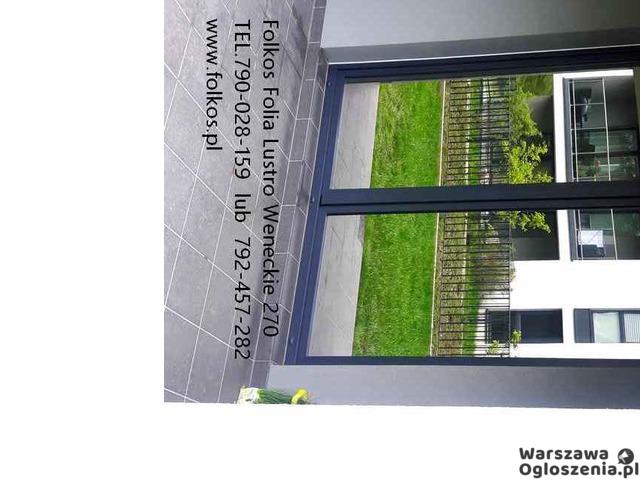 Lustro weneckie folia na okna- szyba wenecka, folia wenecka Warszawa -oklejanie szyb, sprzedaż folii - 4
