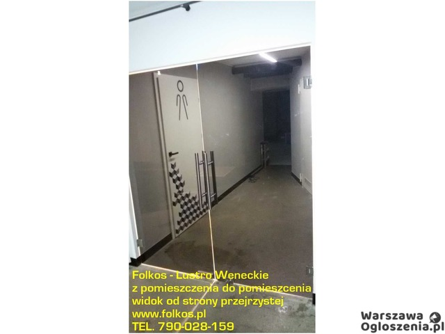 Lustro weneckie folia na okna- szyba wenecka, folia wenecka Warszawa -oklejanie szyb, sprzedaż folii - 7