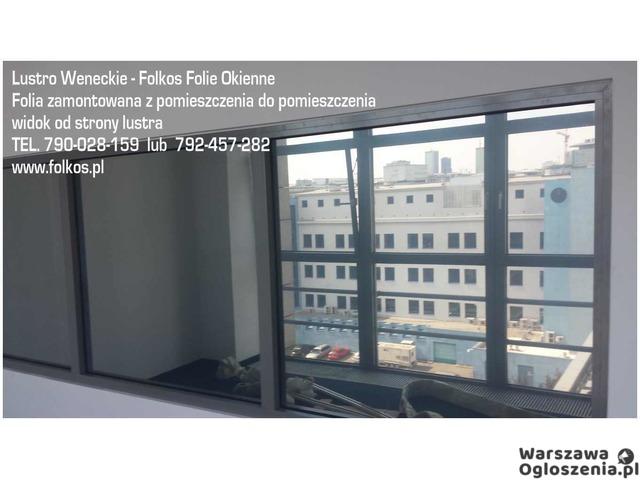 Lustro weneckie folia na okna- szyba wenecka, folia wenecka Warszawa -oklejanie szyb, sprzedaż folii - 9