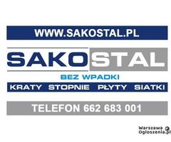 Stopnie schodowe na wymiar, kraty pomostowe, kraty wema Warszawa