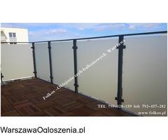 Oklejanie szyb Warszawa-Folie okienne *folie na balkony * oklejanie szyb balkonowych