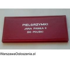 Pamiątkowe medale z pielgrzymek Jana Pawła ll do Polski