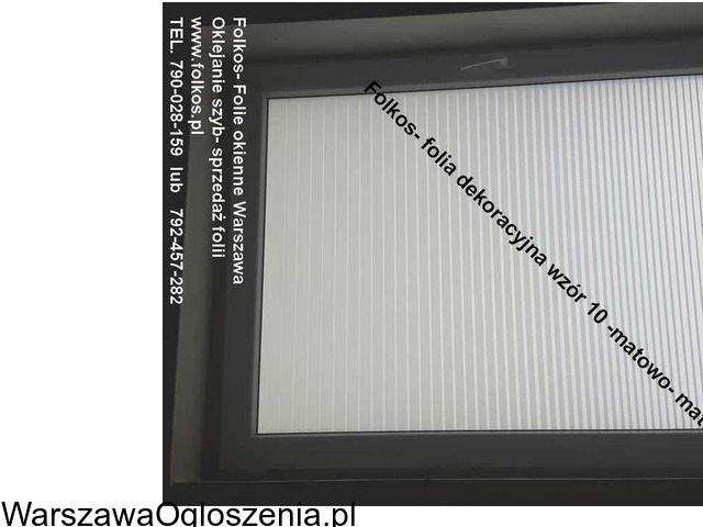 Folia na okno w łazience -Oklejanie szyb łazienkowych Folkos Warszawa - 1