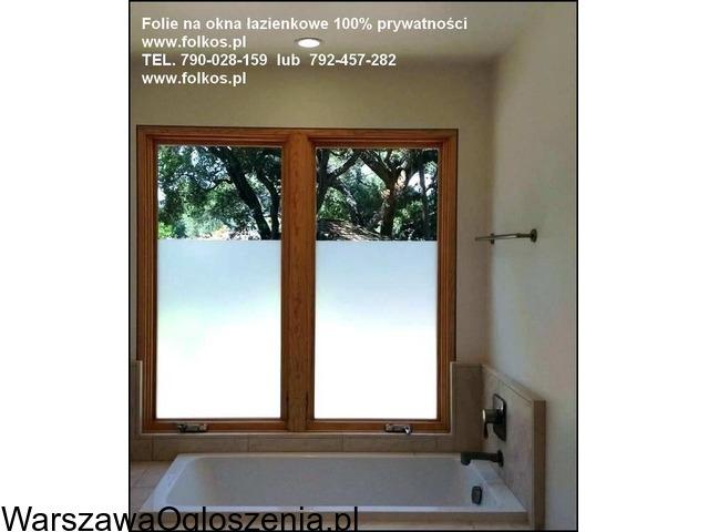 Folia na okno w łazience -Oklejanie szyb łazienkowych Folkos Warszawa - 2