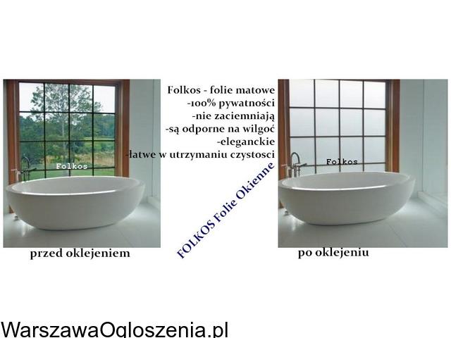 Folia na okno w łazience -Oklejanie szyb łazienkowych Folkos Warszawa - 3