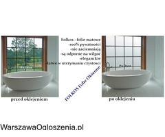 Folia na okno w łazience -Oklejanie szyb łazienkowych Folkos Warszawa - Image 3