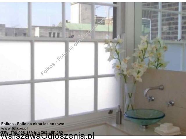 Folia na okno w łazience -Oklejanie szyb łazienkowych Folkos Warszawa - 4