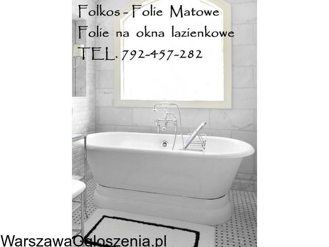 Folia na okno w łazience -Oklejanie szyb łazienkowych Folkos Warszawa - 5