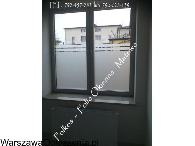 Folia na okno w łazience -Oklejanie szyb łazienkowych Folkos Warszawa - 6