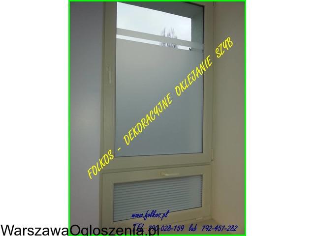 Folia na okno w łazience -Oklejanie szyb łazienkowych Folkos Warszawa - 7