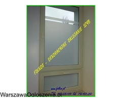 Folia na okno w łazience -Oklejanie szyb łazienkowych Folkos Warszawa