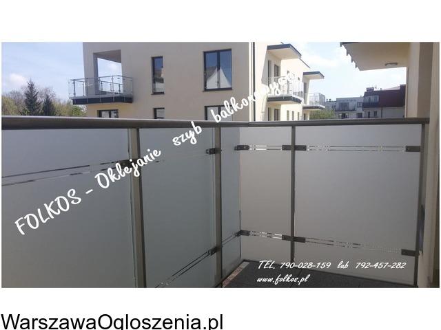 Folie matowe na szyby balkonowe- Folie na balkon Warszawa -Oklejanie - 3