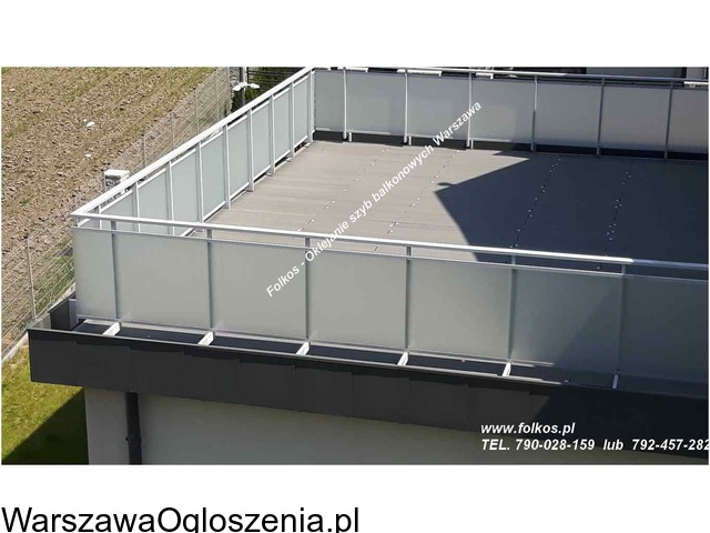 Folie matowe na szyby balkonowe- Folie na balkon Warszawa -Oklejanie - 4