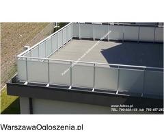 Folie matowe na szyby balkonowe- Folie na balkon Warszawa -Oklejanie