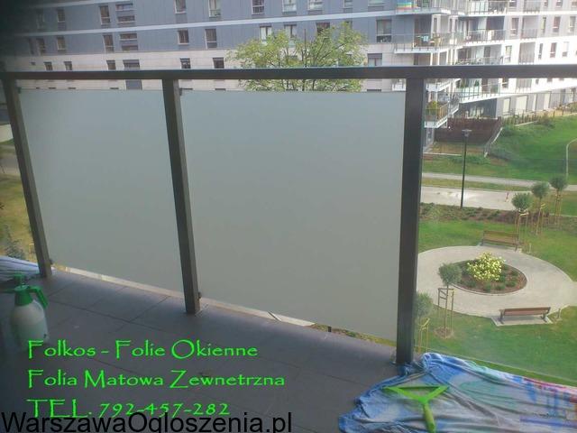 Folie matowe na szyby balkonowe- Folie na balkon Warszawa -Oklejanie - 6
