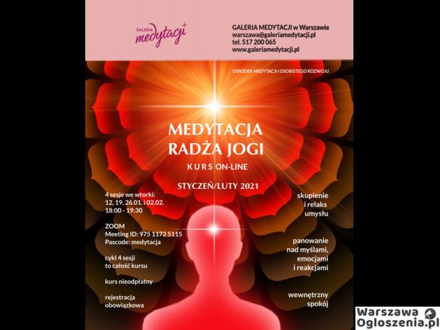 KURS ON-LINE: MEDYTACJA RADŻA JOGI - 1