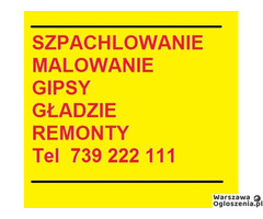 Malowanie szpachlowanie gipsowanie gladzie Warszawa Grodzisk Mazowiecki