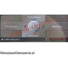BMW polskie menu Warszawa F01 F10 F30 X5 X3 F25 F20
